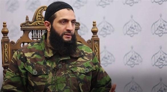 زعيم هيئة تحرير الشام  أو النصرة سابقاً الجولاني (أرشيف)