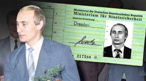 صورة تصريح دخول  للمخابرات الألمانية باسم الرئيس الروسي فلاديمير بوتين (روسيا اليوم)