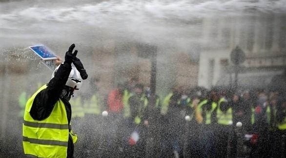 احتجاجات السترات الصفراء في باريس (إ ب أ)