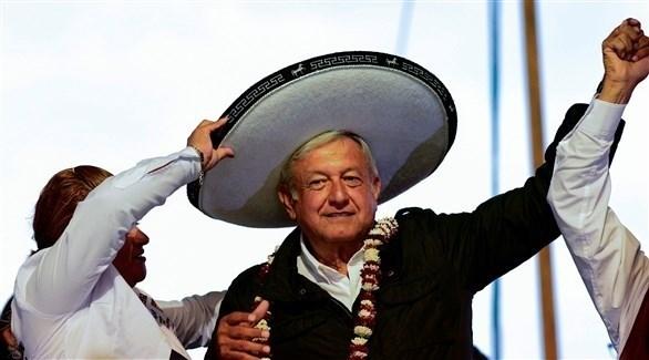 رئيس المكسيك المنتخب آندريس مانويل لوبيز أوبرادور (أ ف ب)