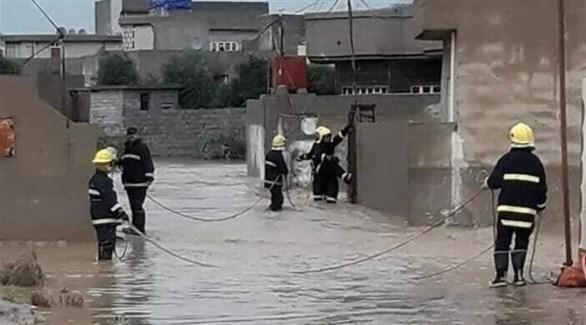 السيول تغرق الموصل (تويتر)