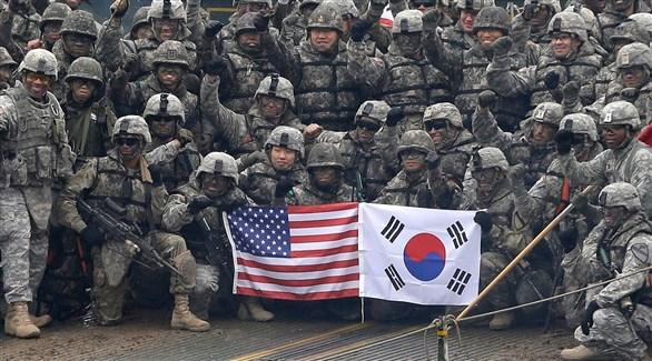 قوات أمريكية وكورية جنوبية في صورة مشتركة  (أرشيف)
