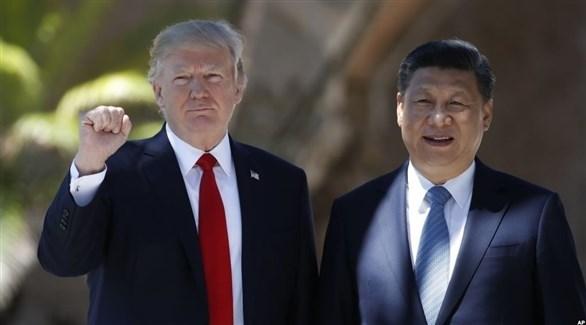 الرئيس الأمريكي دونالد ترامب والرئيس الصيني شي جين بينغ (أرشيف)