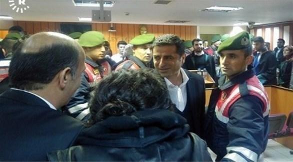 المعارض الكردي، صلاح الدين دميراتش، خلال غحدى جلسات محاكمته (أرشيف)