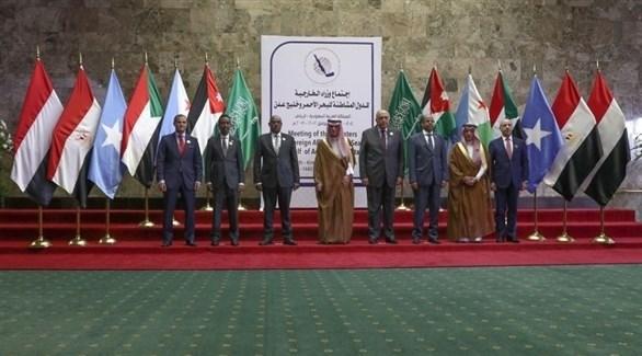 وزراء الخارجية المشاركة في الاجتماع