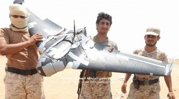 الجيش الوطني اليمني يسقط طائرة حوثية في مأرب (تويتر)