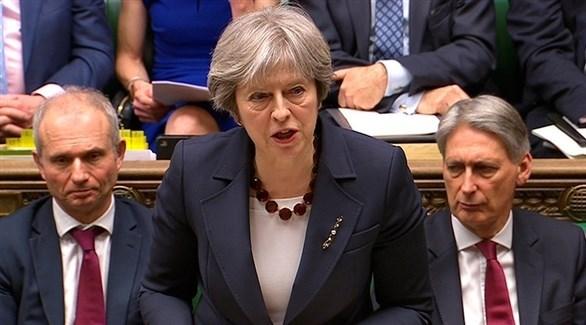 تيريزا ماي في البرلمان البريطاني (أرشيف)