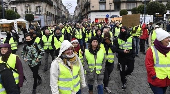 متظاهرون من أصحاب السترات الصفراء في فرنسا (أرشيف)