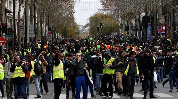 احتجاجات السترات الصفراء في فرنسا (أرشيف)