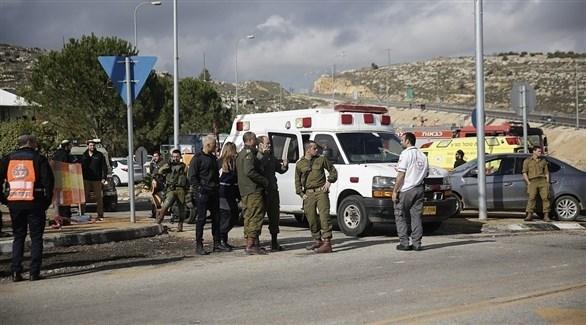 انتشار أمني إسرائيلي في مكان الهجوم  برام الله (تويتر)