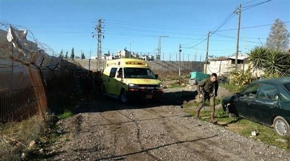 من مكان إصابة الجندي الإسرائيلي قرب مستوطنة بيت آيل في الضفة الغربية (سوا)