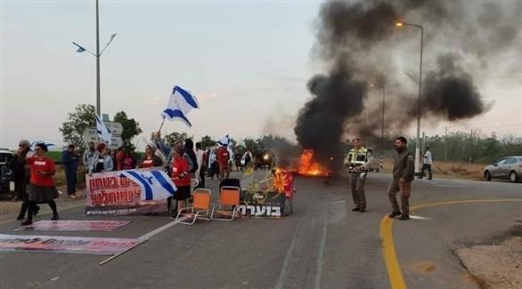 مستوطنون يغلقون معبر كرم أبو سالم (أرشيف)