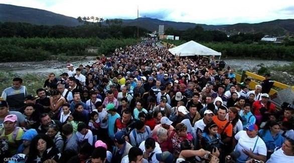 النازحين من فنزويلا (أرشيف)