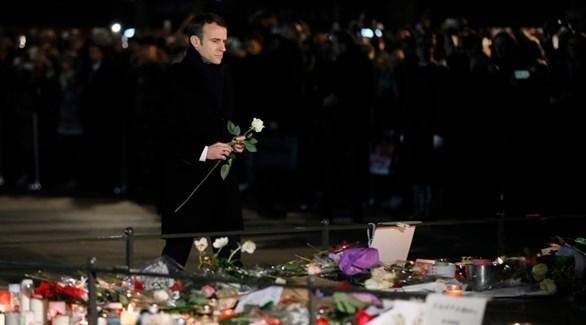 الرئيس الفرنسي ماركون يؤبن ضحايا ستراسبورغ (أرشيف)