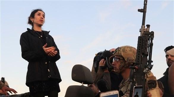 نادية مراد في سنجار (رويترز)
