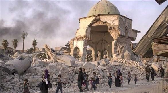جامع النوري الذي هدمه تنظيم داعش الإرهابي (أرشيف)