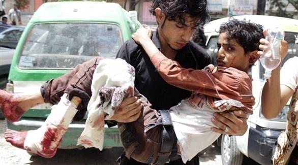 شاب يمني مصاب بانفجار لغم أرضي (أرشيف)