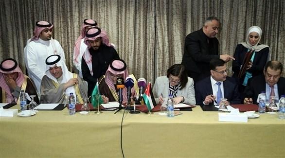 مراسم توقيع الاتفاقية السعودية الأردنية في عمان (بترا)