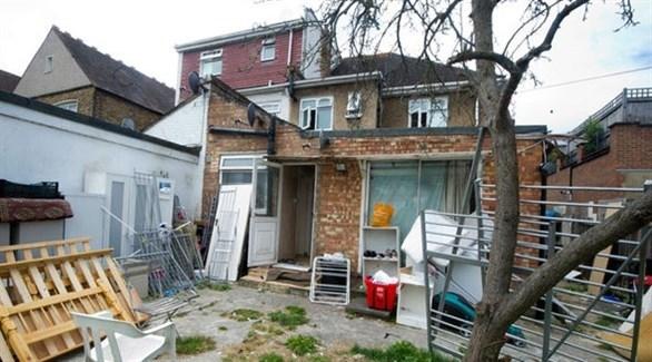أحد منازل طالبي اللجوء في لندن (أرشيف)