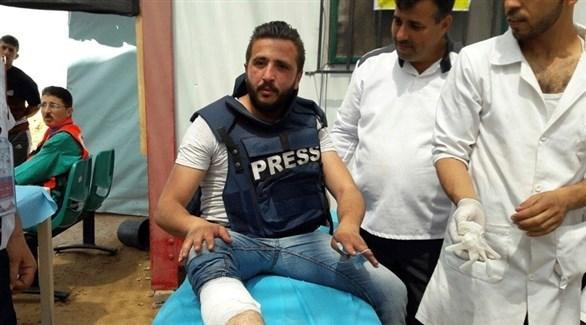 صحفي فلسطيني مصاب برصاص الجيش الإسرائيلي (أرشيف)