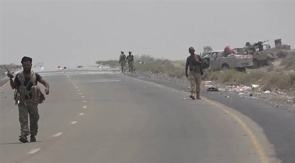 عناصر من الجيش الوطني اليمني في شوارع الحديدة (أرشيف)