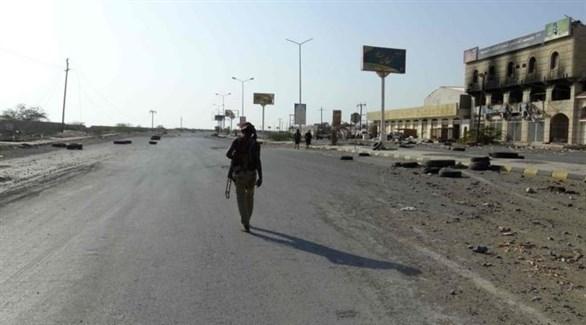 عنصر من المقاومة الشعبية اليمنية في مدينة الحديدة (أشيف)
