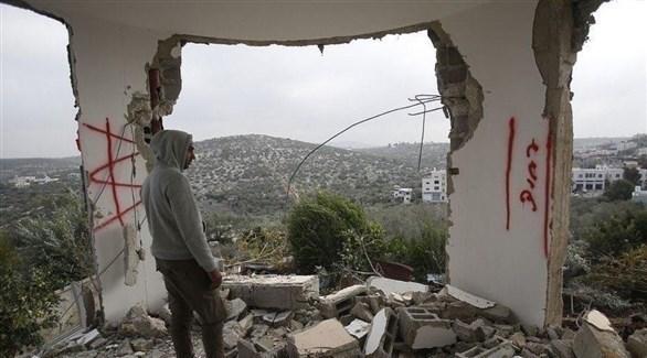 منزل الشهيد أشرف نعالوة الذي هدمه الاحتلال الإسرائيلي قبل أيام (تويتر)