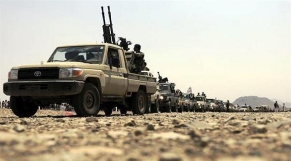 قافلة عسكرية تابعة للجيش الوطني اليمني (اليمن العربي)