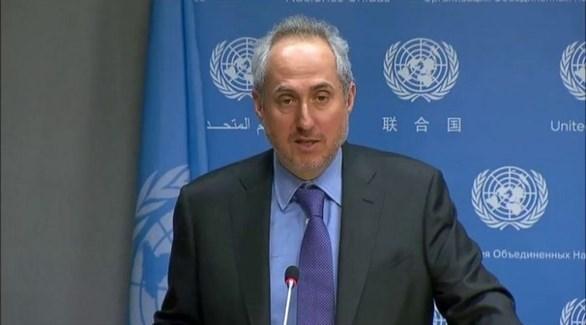 المتحدث باسم الأمم المتحدة ستيفان دوغاريك (أرشيف)