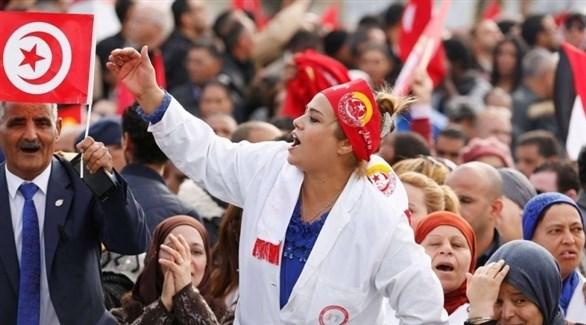 احتجاج سابق لمعلمين في تونس (أرشيف)