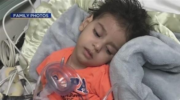 الطفل عبد الله حسن يرقد في مستشفى بولاية كاليفورنيا (أرشيف)
