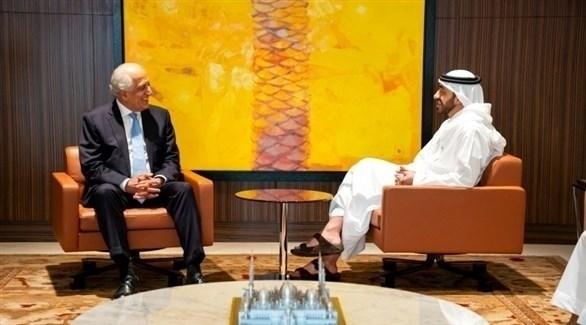 لقاء الشيخ عبد الله بن زايد  آل نهيان مع المبعوث الولايات المتحدة الأميركية الخاص للسلام في أفغانستان (أرشيف)