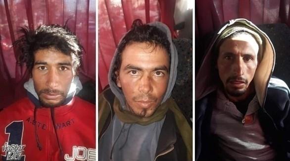 صور المشتبه بهم الثلاثة في قتل سائحتين اسكندنافيتين (تويتر)
