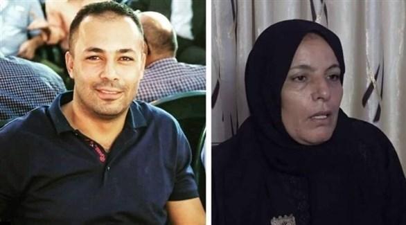وفاء مهداوي، والدة الشهيد أشرف نعالوة وشقيقه أمجد (أرشيف)