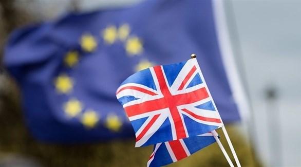 أعلام بريطانيا والاتحاد الأوروبي (أرشيف)
