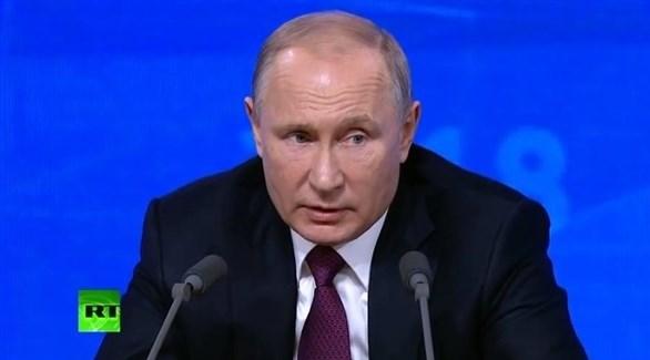 الرئيس الروسي بوتين في مؤتمره السنوي (روسيا اليوم)