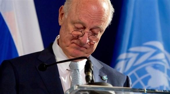 موفد الأمم المتحدة إلى سوريا ستافان دي ميستورا (أرشيف)