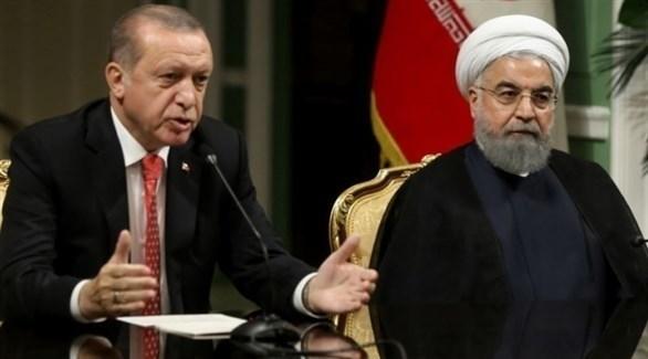الرئيسان الإيراني حسن روحاني والتركي رجب طيب أردوغان (أرشيف)