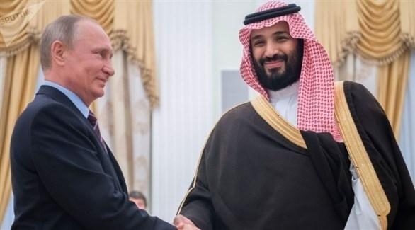 ولي عهد السعودية الأمير محمد بن سلمان والرئيس الروسي فلاديمير بوتين (أرشيف)