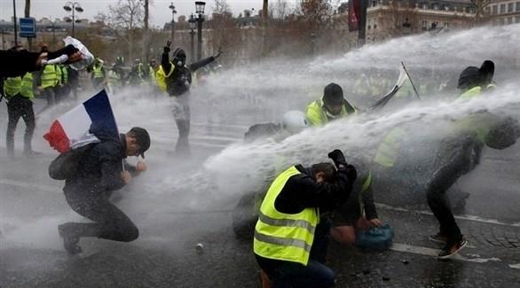 احتجاجات السترات الصفراء في فرنسا (إ ب أ)