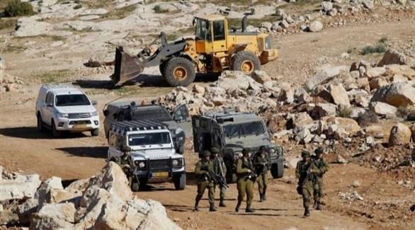 قوات إسرائيلية في الخان الأحمر (أرشيف)