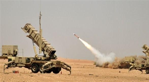 انطلاق صاروخ من منظومة الدفاع الجوي للتحالف العربي (أرشيف)