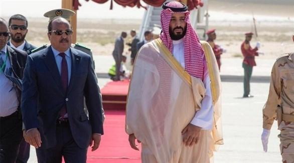 ولي العهد السعودي والرئيس الموريتاني (الصحراء ميديا)