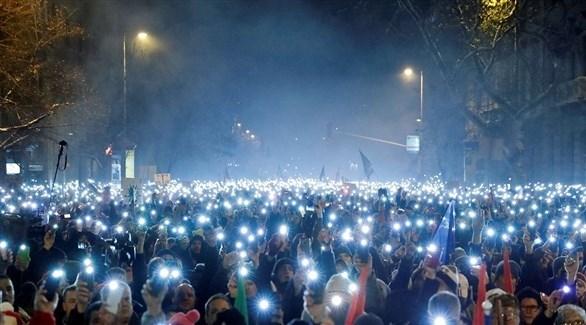 مظاهرات في المجر ضد سياسة أوربان (أرشيف)