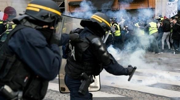 مواجهات بين الشرطة الفرنسية ومحتجين في باريس (إ ب أ)