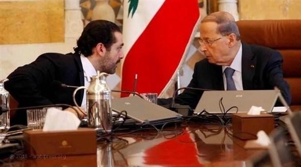 ميشال عون وسعد الحريري (أرشيف)