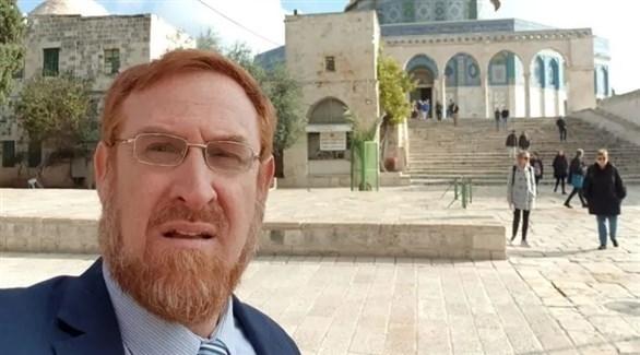 عضو الكنيست المتطرف يهودا غليك في باحات المسجد الأقصى (تويتر)