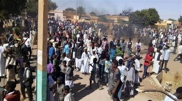 من احتجاجات السودان (تويتر)