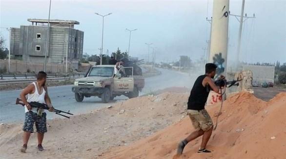 مسلحون في قتال شوارع بليبيا (أرشيف)