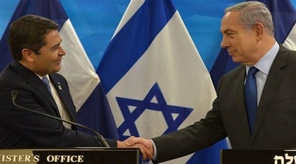 رئيس الوزراء الإسرائيلي ورئيس هندوراس (أرشيف)